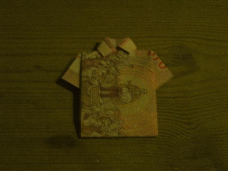 pengeskjorte forfra